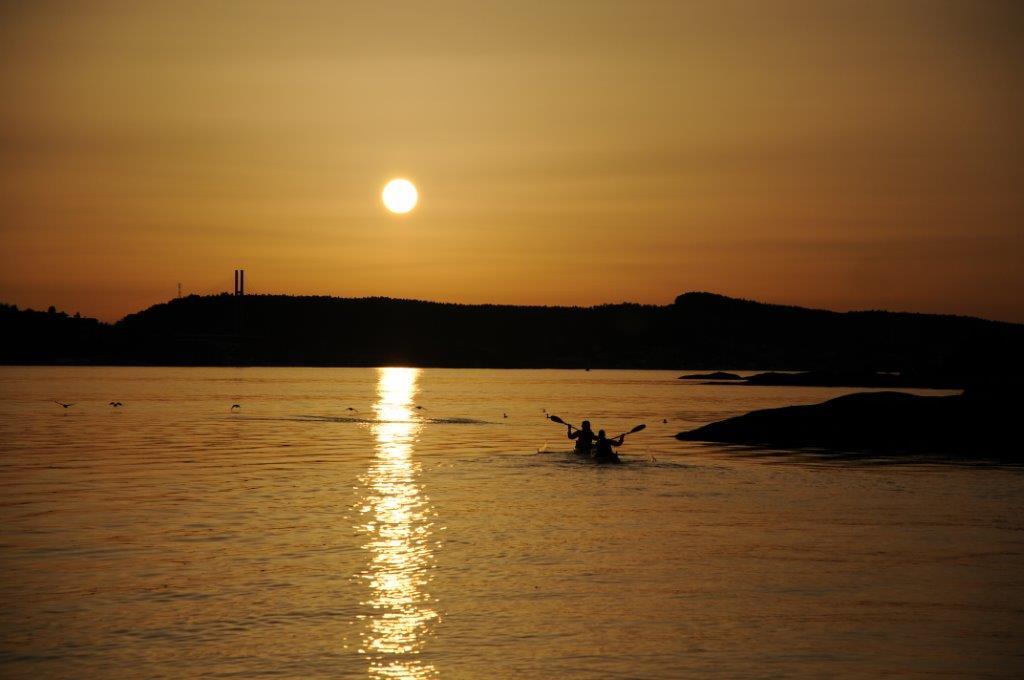 Kajakk_solnedgang